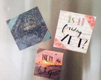 Pack de 3 aimants - inspiration