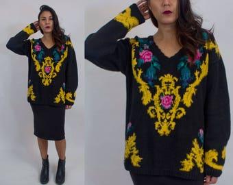 Baroque knit sweater. Vintage 90s 0b0603dd5
