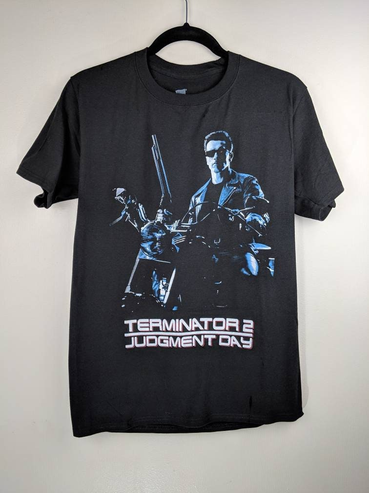 Men's Terminator 2 Arnie Motorbike T-shirt
