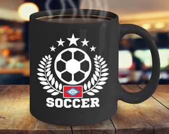 Soccer Arkansas 11oz Black Coffee Mug Gift for Soccer Players, Soccer Gift Idea, Soccer Coach Gift, Soccer Mug