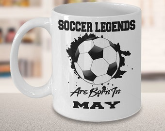 May Soccer Legends Dream League 15oz White Coffee Cup Gift for Soccer Players, Soccer Gift Idea, Soccer Coach Gift, Soccer Mug
