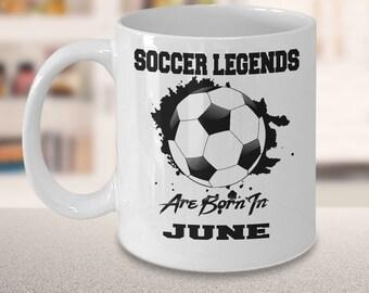 June Soccer Legends Dream League 15oz White Coffee Cup Gift for Soccer Players, Soccer Gift Idea, Soccer Coach Gift, Soccer Mug