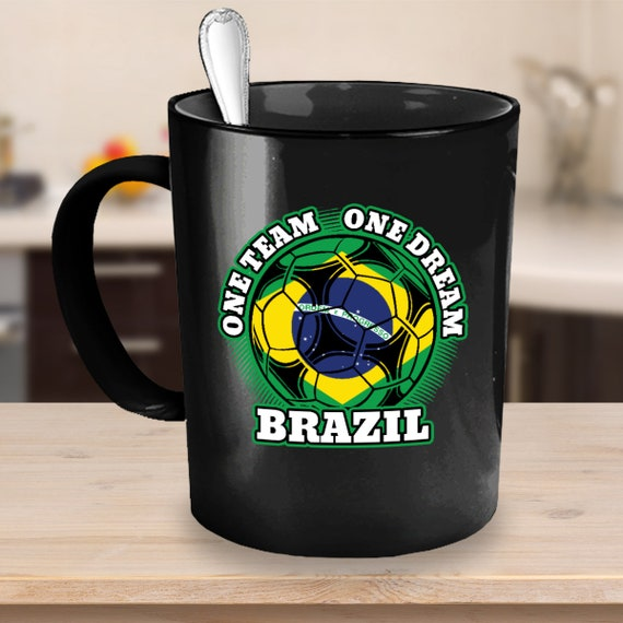 Brazil Soccer Coffee Mug 11 or 15oz