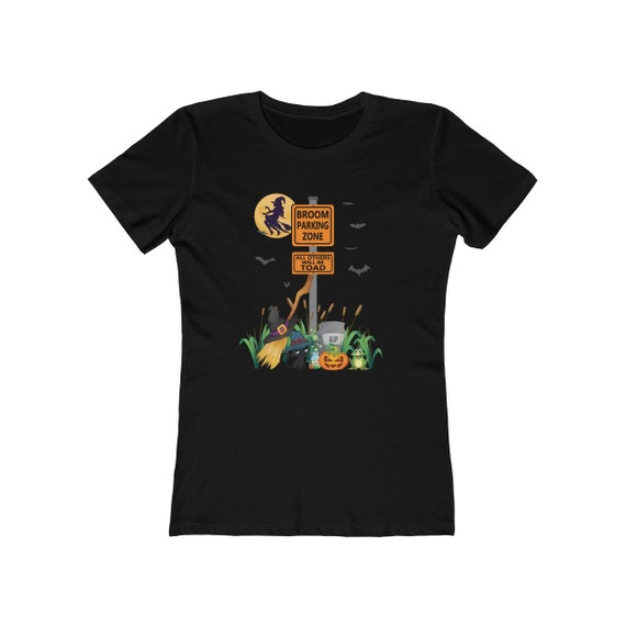 Witches Funny Halloween Shirts Broom Parking Zone Witches