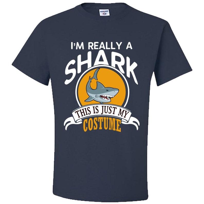 Shark Halloween Costume T-shirt I'm Really A Shark This Is image 0