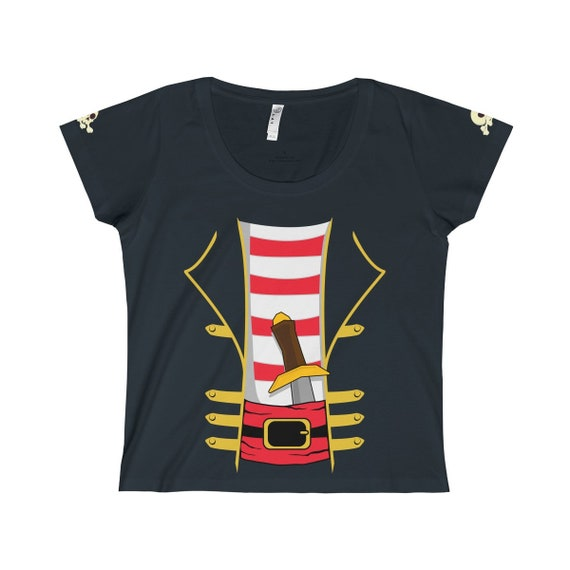 Ladies Pirate Halloween Costume T-Shirt
