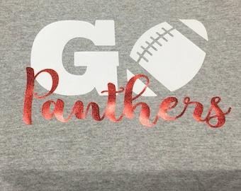 GO Team Shirt on crew neck tee