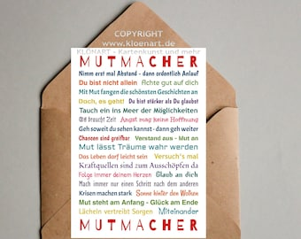 Postcard *MUTMACHER*- KLÖNART