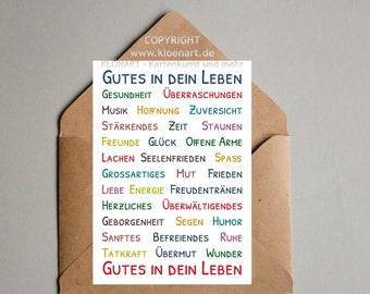 "Postcard *Good In Your Life""- Klönart"