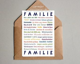 Postcard * Family *-KLÖNART