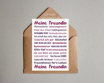 Postcard * My friend *-KLÖNART