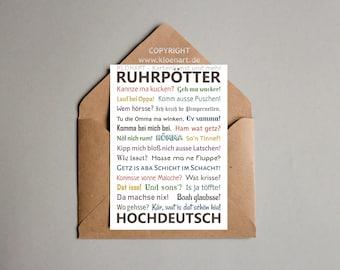 Postcard-* RUHRPÖTTER HOCHDEUTSCH * by KLÖNART