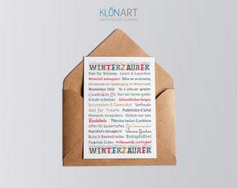 Postcard * Winter Magic * - KLÖNART