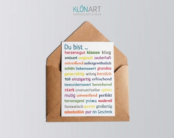 Postcard * You are ... a gift * - KLÖNART