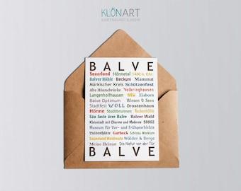 Postcard - * BALVE * by KLÖNART