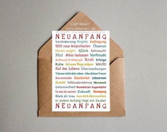 Postcard * New Beginning *-KLÖNART