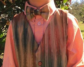 Boys Vest and Bow Tie Set