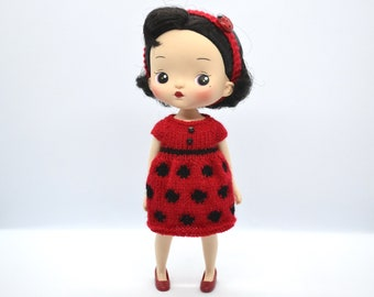 brand new from IXTEE red and black dotty boots for Blythe doll