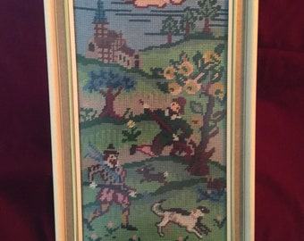 Vintage Embroidery cross stitch frame