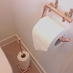 Copper Toilet roll holder Wall mounted- pure copper rose gold