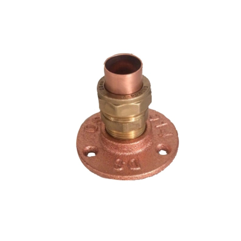 Copper Wall Flange Fix copper pipe to floors or walls easily image 0