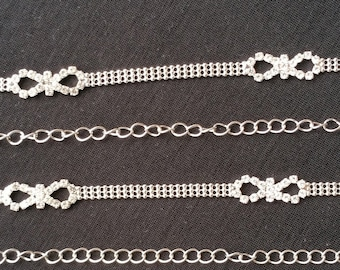 c609152a63624 Luxurious infinity diamante ball chain rhinestone crystal bra strap  Adjustable and detachable shoulder straps Bridal Wedding Eveningwear