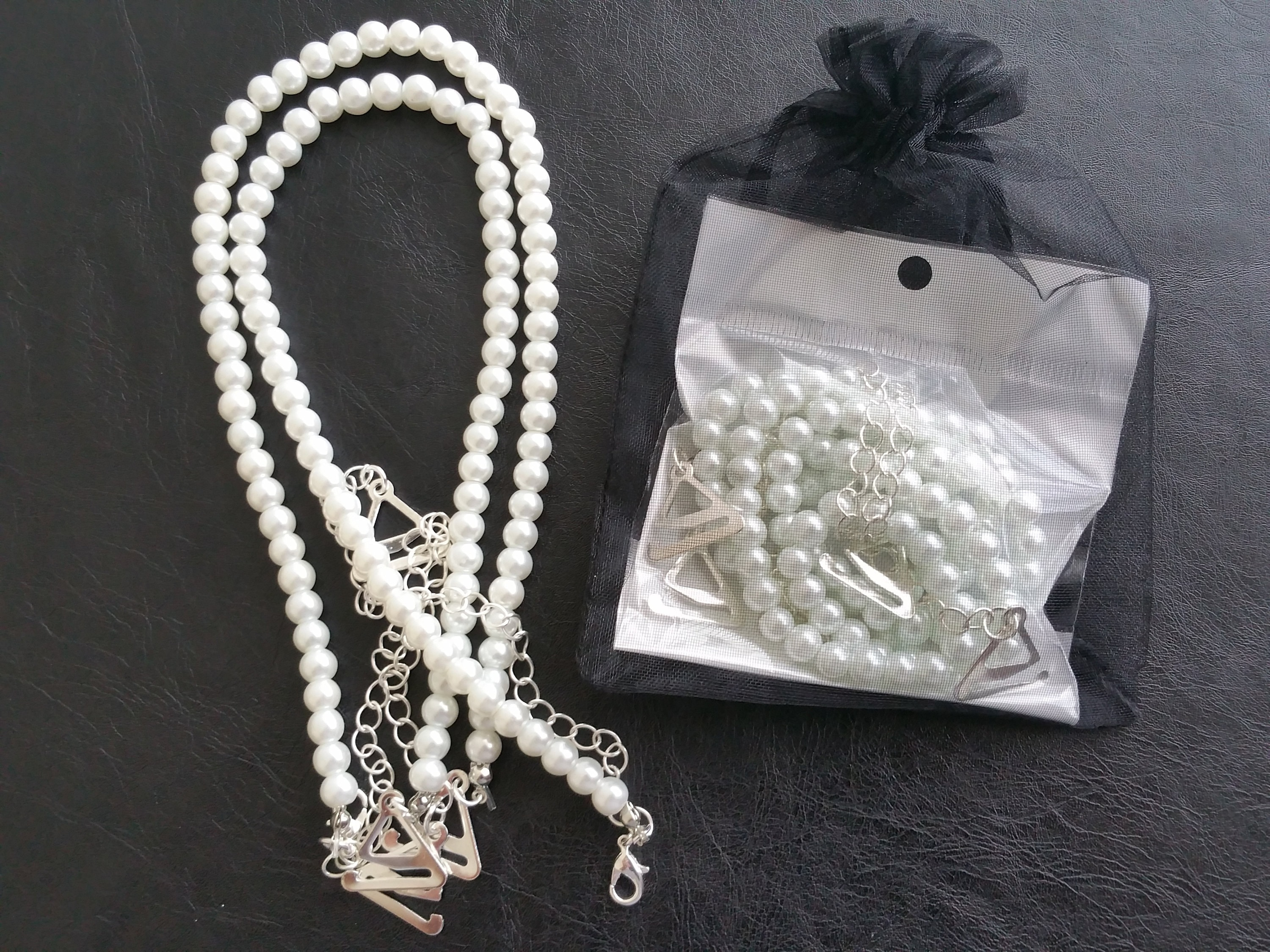 e118905029 Pearl bra straps in gift bag Adjustable and detachable