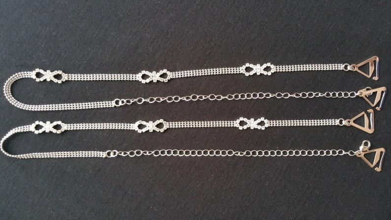 b21cc5f449 Luxurious infinity diamante ball chain rhinestone crystal bra