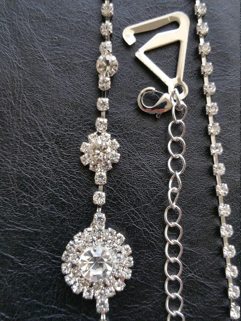 18f5d68088 Luxurious 2 flower diamante rhinestone crystal bra strap