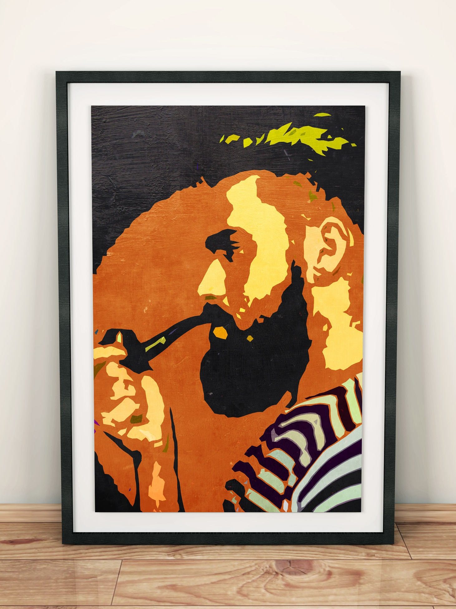 SMOKE SMOKING MAN TRIPPY ABSTRACT COOL MODERN WALL ART PRINT LARGE