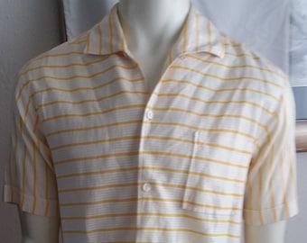 9da56d14d1a5 Vintage 1960s/70s CAPRI of CALIFORNIA Brand Yellow Men's Hawaiian shirt  Beachwear Poolwear Made in USA Aloha Tiki hippie boho