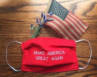 MAKE AMERICA GREAT AGAIN Embroidered Bib Red White and Blue