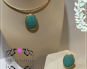 Turquoise Set Choker and Ring