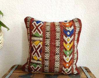 Housse de coussin marocain Vintage, handira, sequin, embillished, design unique