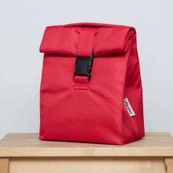 Sac à lunch pour le déjeuner de femmes sac à lunch isolé pour enfants adultes déjeuner sac école déjeuner sac rouges sac sac à Sandwich pour sac de sac pique-nique école