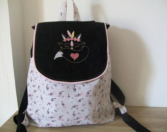 nanny fabric name rabbit personalized school nursery Backpack embroidered