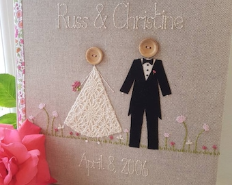 Personalised wedding album, wedding scrapbook, matching guest books available soon, wedding gift, anniversary gift