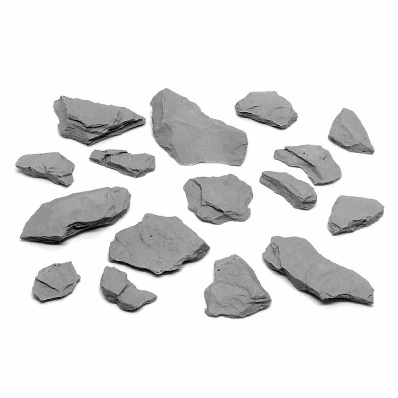 Grabblecast GC/_0040 Mountain Stones Set Wargames Frostgrave DnD Dungeons and Dragons Terrain