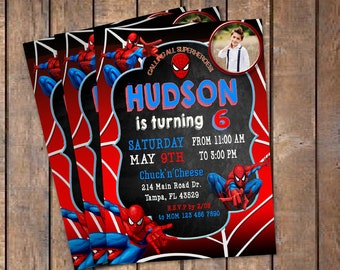 Spiderman invitation etsy spiderman birthday invitation with photo spiderman invitation spiderman birthday spiderman invite spiderman partyspiderman invitations stopboris Choice Image