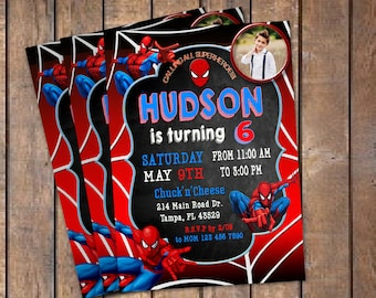 Spiderman invitation etsy spiderman birthday invitation with photo spiderman invitation spiderman birthday spiderman invite spiderman partyspiderman invitations stopboris