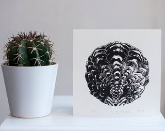 Small Pangolin Linoprint