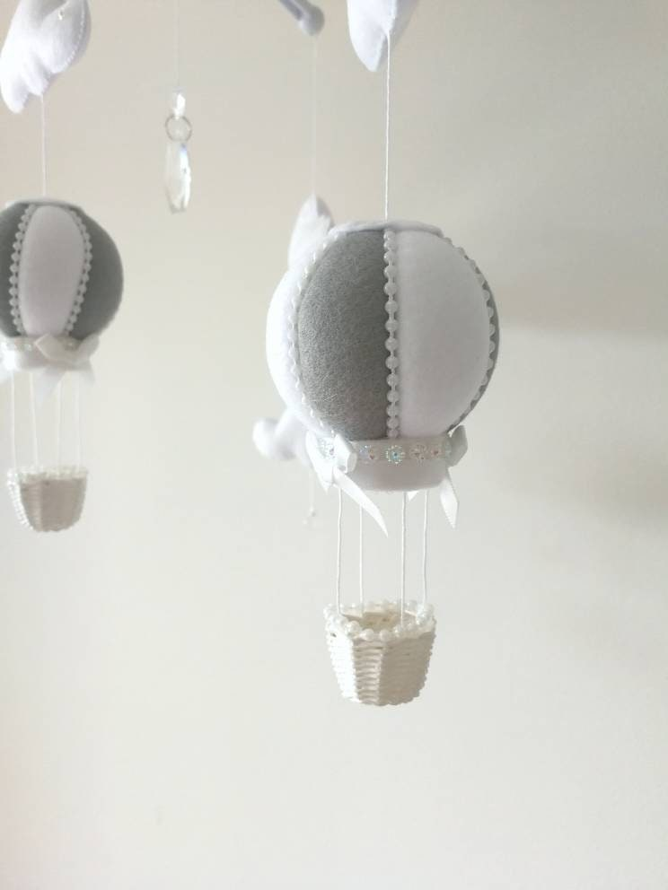 6ed15cedd7f Grey White Baby Mobile