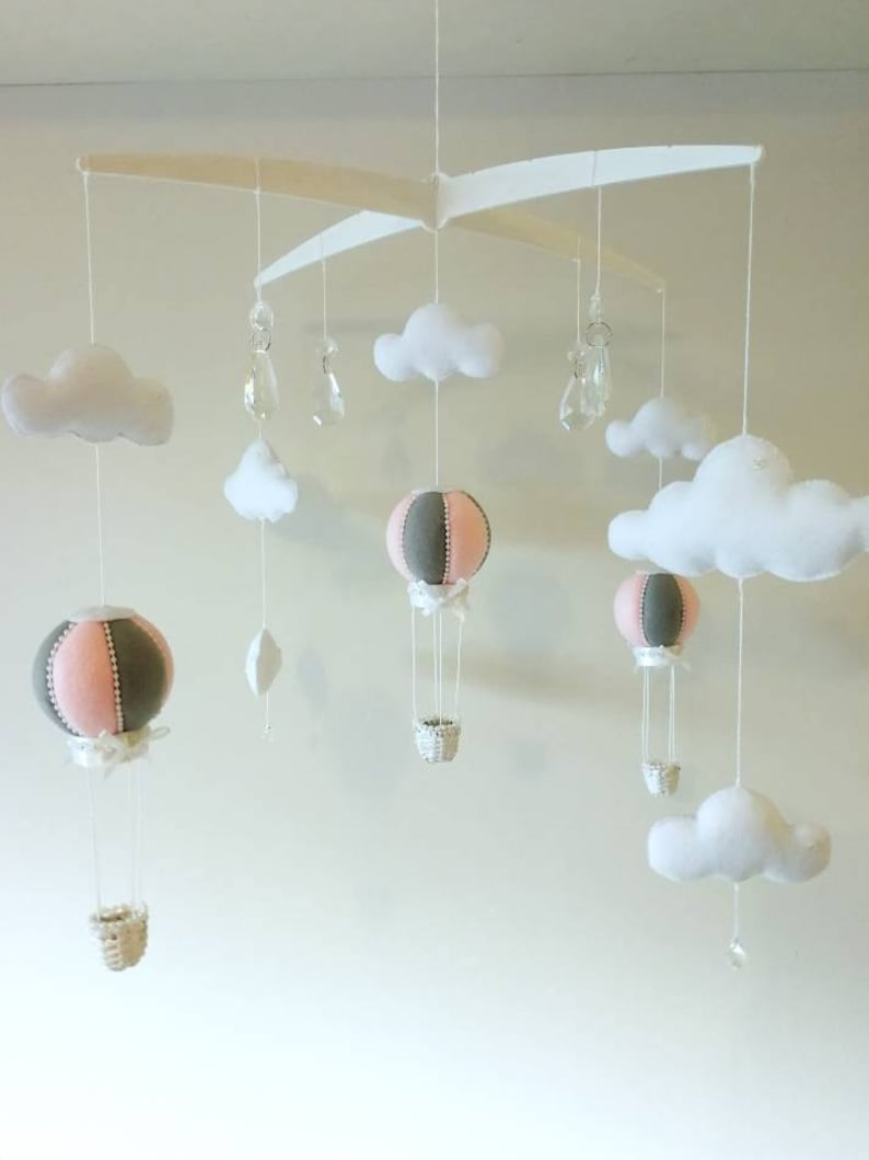 f630bdf0f61 Hot Air Balloon Decoration Baby Mobile Baby Mobile Felt