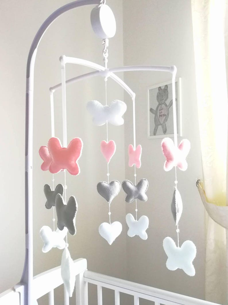 c9fbf6367fa Elegant Baby Mobile Butterfly Nursery Decoration Musical Cot
