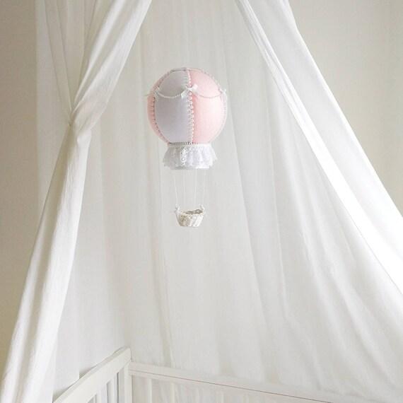 Large Hot Air Balloon Decoration, Nursery Decor, Romantic Baby Mobile, Big Balloon For Baby Room, Canopy Mobile, Travel Nursery Gift, Vegan