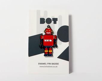 Robot Enamel Pin Badge