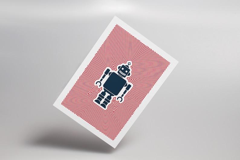 Brio Bot Robot Postcard Futuristic Retro Poster Technology image 0