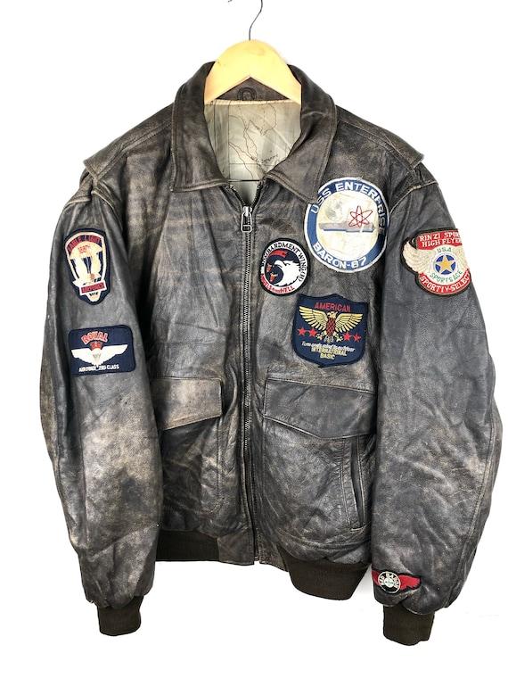 Vintage 80s Flight Leather Jacket
