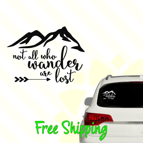 All things camping funny vinyl decal car bumper sticker 092