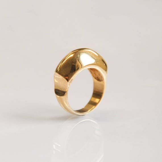 statement ring for her dome ring gold plated